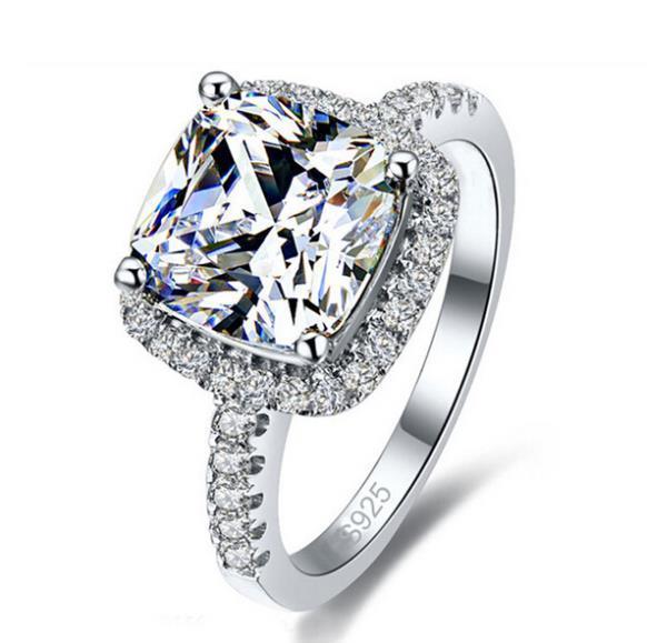 Jemmin Simples Mulheres de cristal de prata esterlina 925 para acoplamento do casamento Jóias Acessório Belas Rhinestone Anéis presente Y1890705