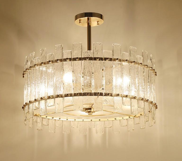 Modern Yuvarlak Kristal Avize Aydınlatma Odası Yatak Odası LED Işık Mutfak Ada lüks Avizeler Işık Fikstür LLFA Yemek İçin