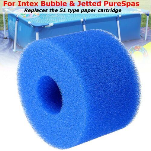 3pcs Piscina de espuma esponja do filtro reutilizável lavável Biofoam limpador de piscina de espuma filtro Intex S1 Tipo A Acessórios Swim