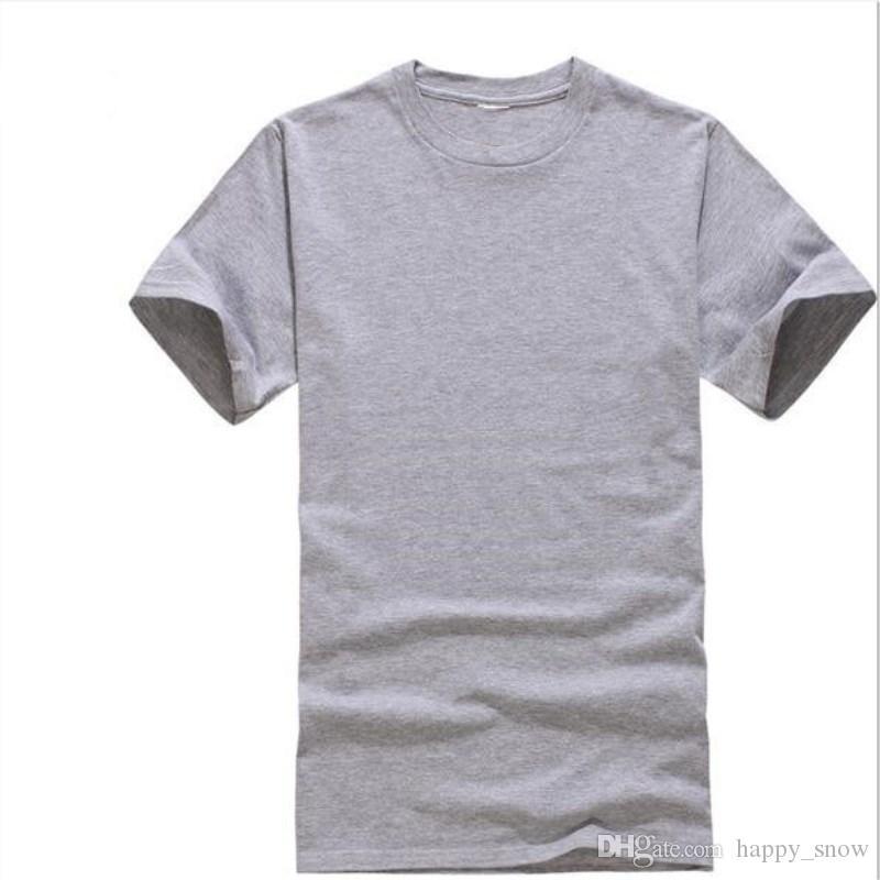 T Shirt 2019 Nuovi uomini estivi Modal T Shirt Solid T Shirt Blank Pure Color Casual Tees Plain 100% cotone o-collo manica corta T-shirt XXXL
