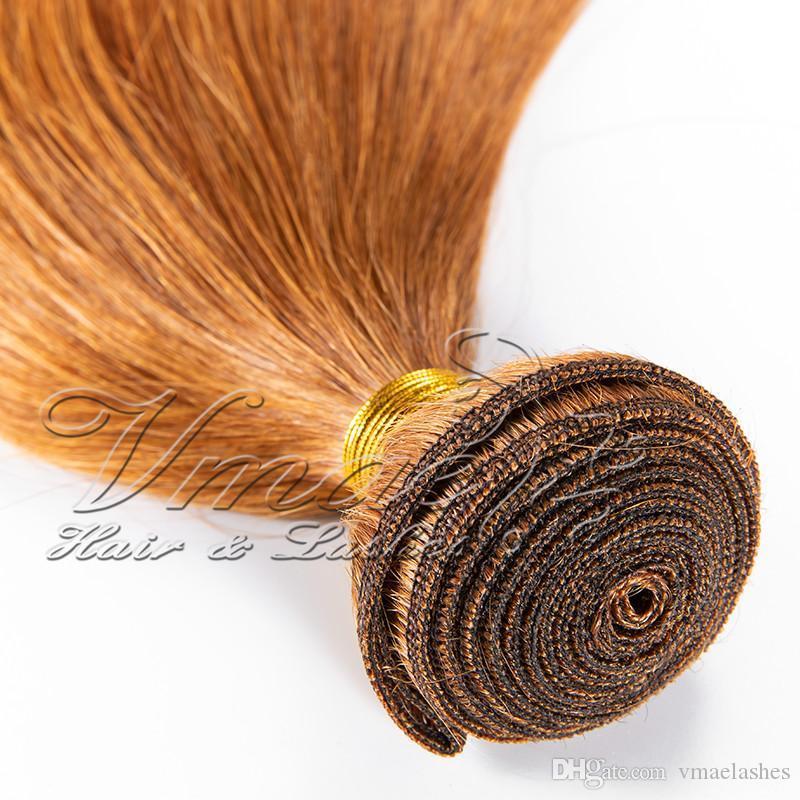 VMAE Индийского волос # 30 Straight 3 Связка Лот Необработанных Богородица человеческих волос Weave Расширение Нет Клубок Natural Soft