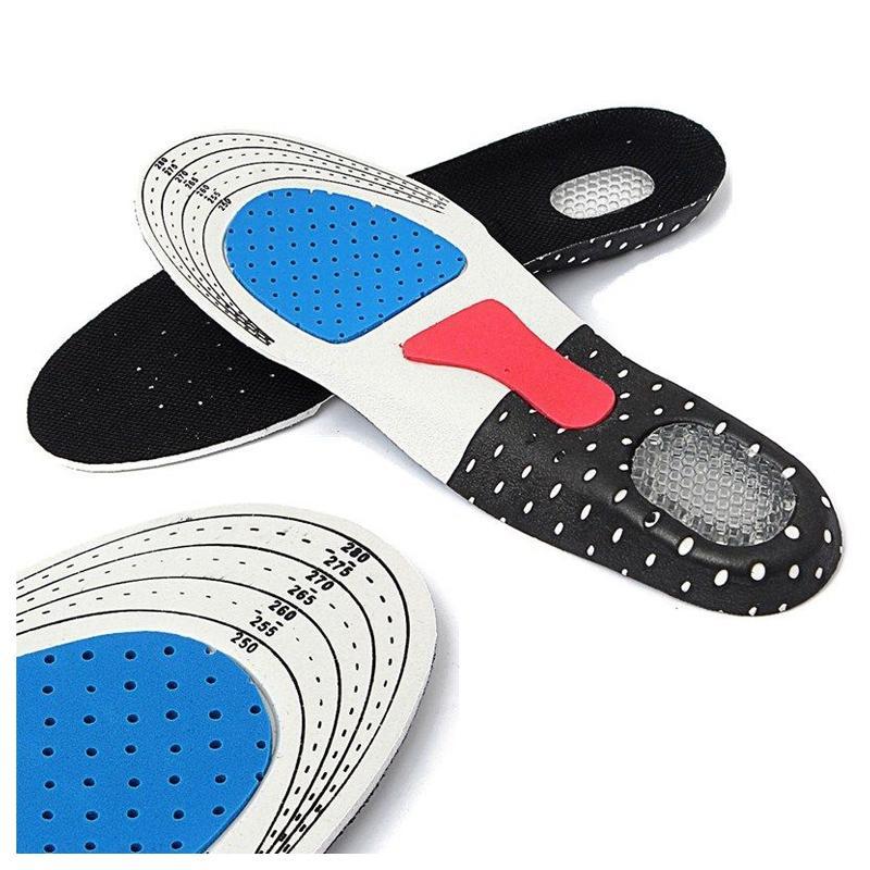 Мужчины Gel ортопедических Спорт Бег Стелька Вставка обуви Pad Arch Support Подушка для мужчин (250мм-285мм)