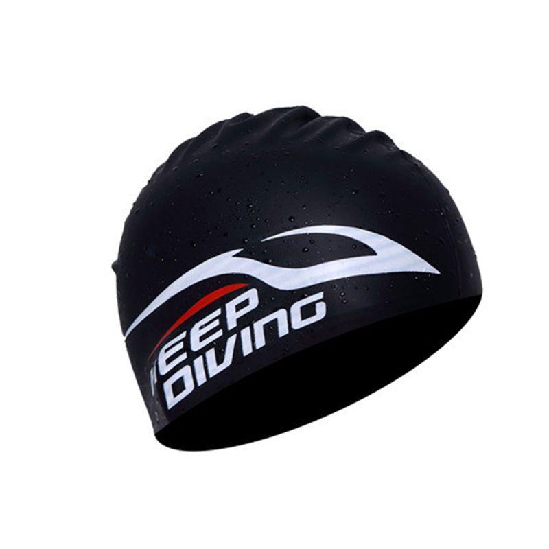 100% silicone Bonnet de bain pour les femmes hommes enfants Cheveux longs Silice Capuche Chapeau Ultrathin extérieur étanche oreilles Protéger