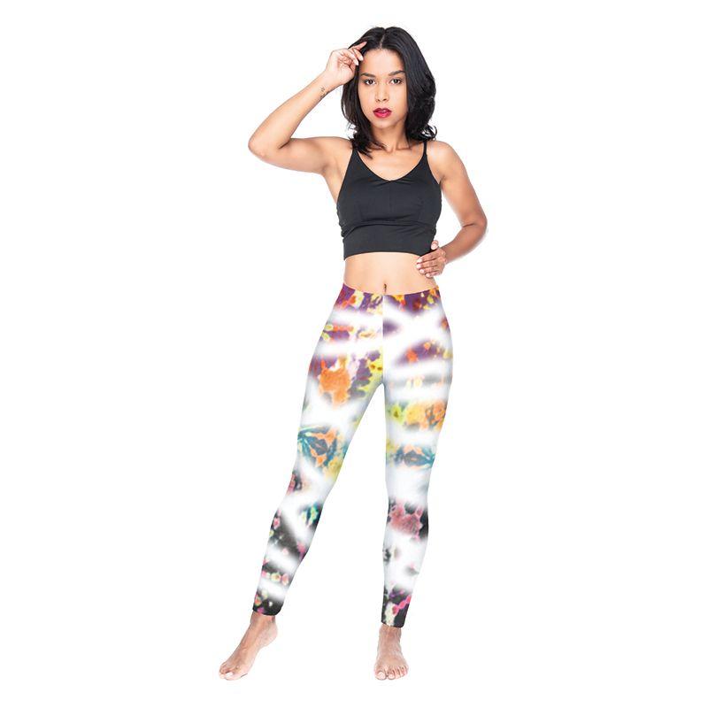 Lady Leggings Dye Graffiti 3D Digital Full Printed Comfortable Pencil Pants Girls Full Length Jeggings Women Workout Sport Trousers (Y54586)