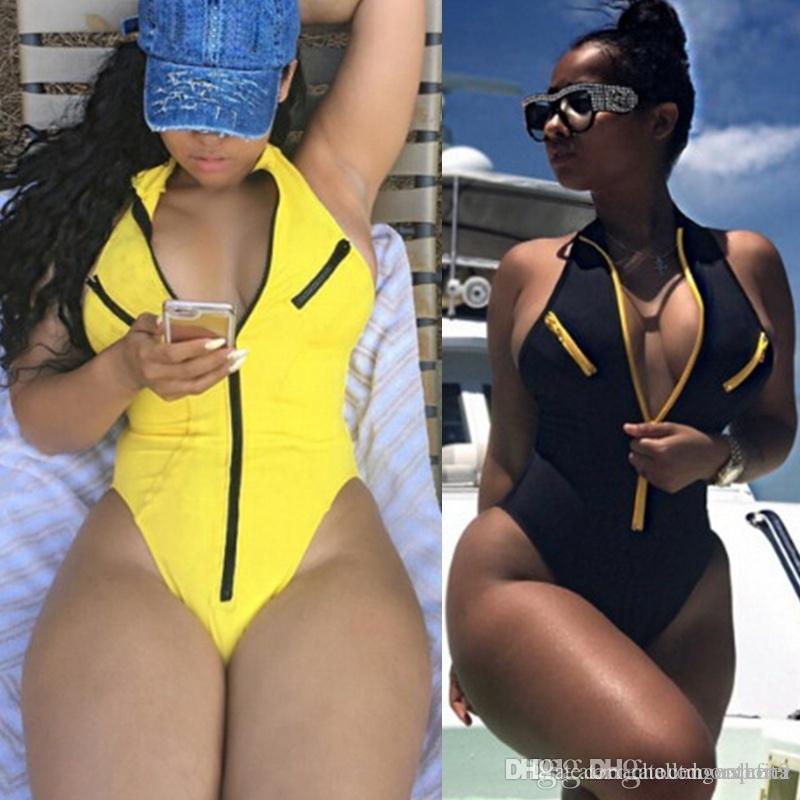 2019 Marque Nouveau été bikini sexy maillot de bain Maillot une pièce Monokini poitrine push-up Maillot de bain bikini rembourré femmes Suits2019
