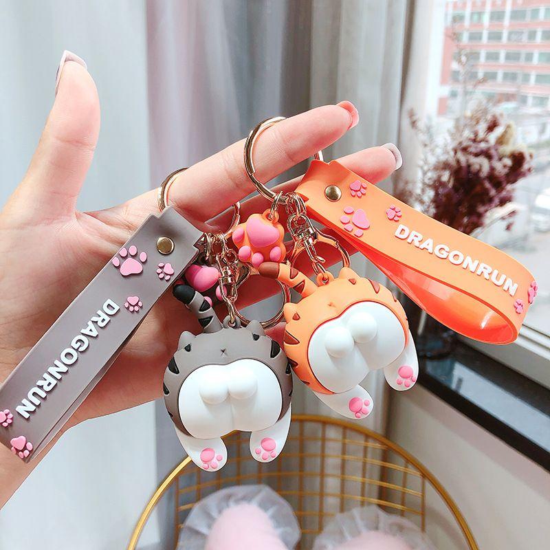 Cute Totoro Keychains BuKeychain Women Kids Charm Phone Bags key chain Car Key Ring Animal Pattern Holder for GirlFriend