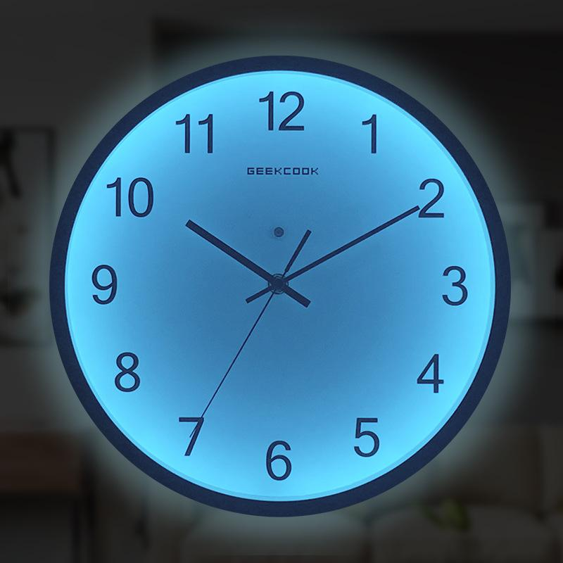 large decorative plates for the wall.htm luminous wall clock large number hanging clocks quiet dark glowing  luminous wall clock large number