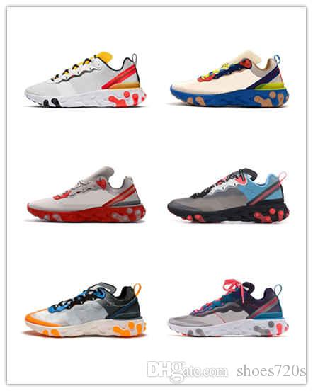 2019 React Element 87 55 Undercover X Upcoming chaussure designer boot shoes sports men women Navy blue Sneakers shoes size36-45