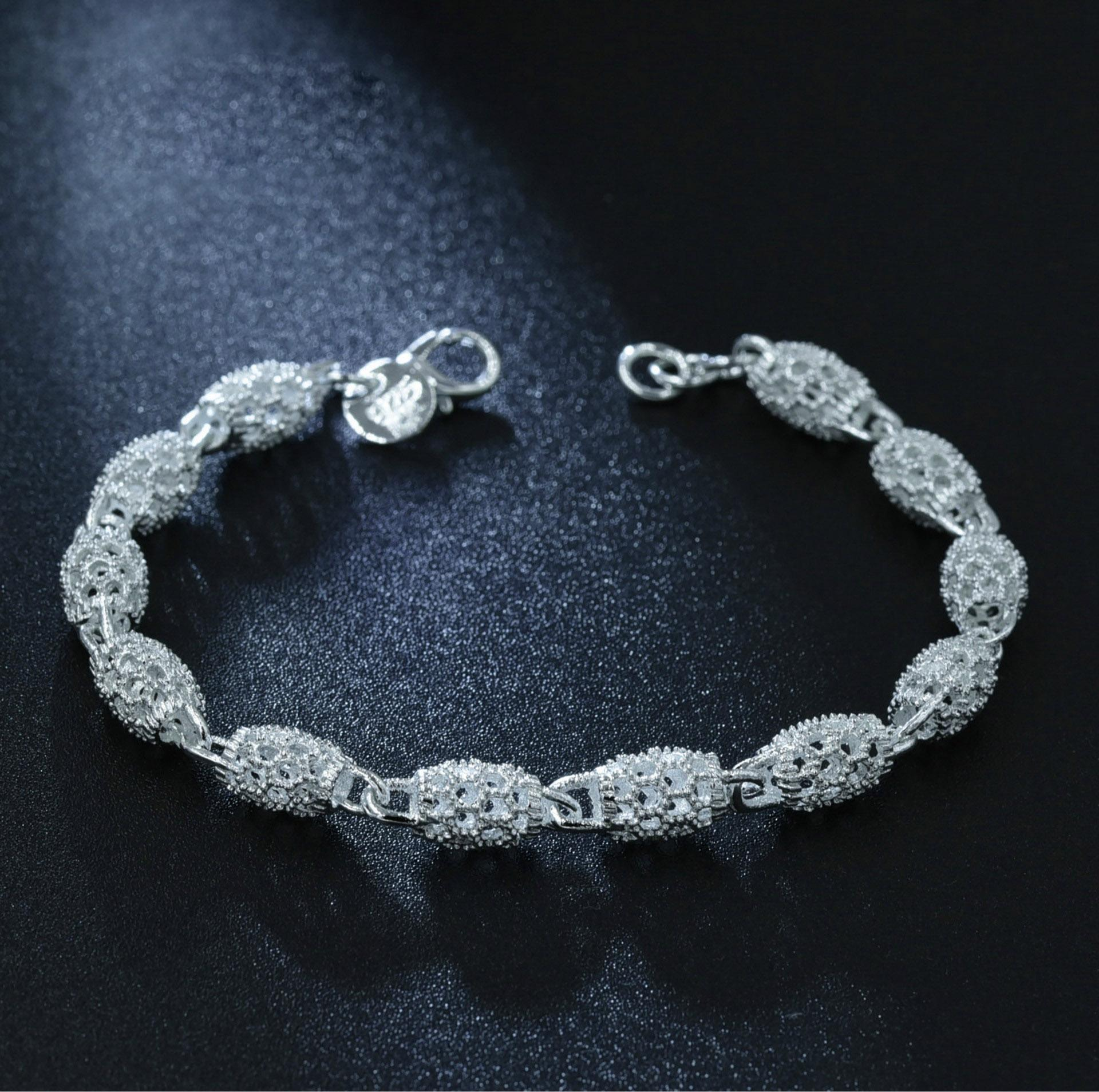 Luxury Bracelet For Women Color Silver Bracelets Bridal Wedding Fine Jewelry Gift Charms Bracelets