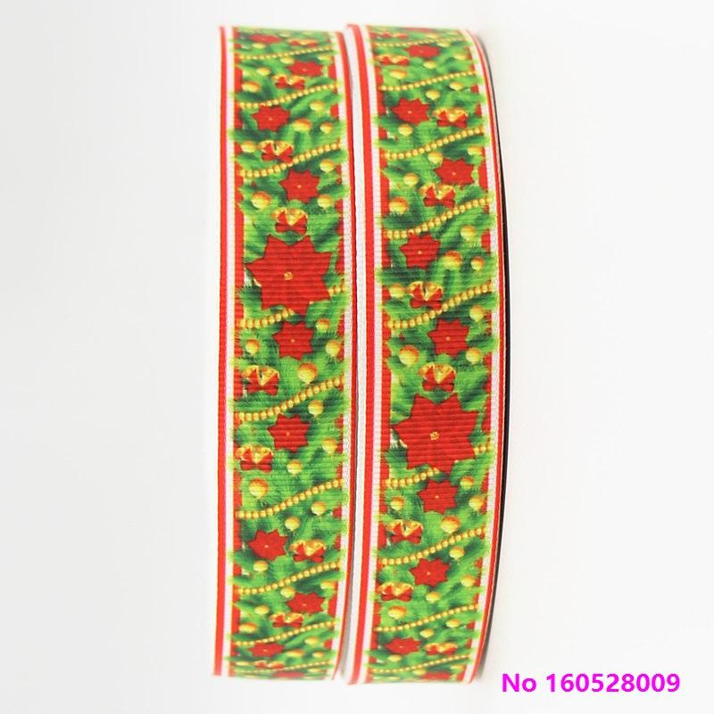 ribbon 7/8inch 22mm 160528009 Christmas Pattern Holiday Style cartoon grosgrain ribbon 50yds/roll free shipping for headband hair tie