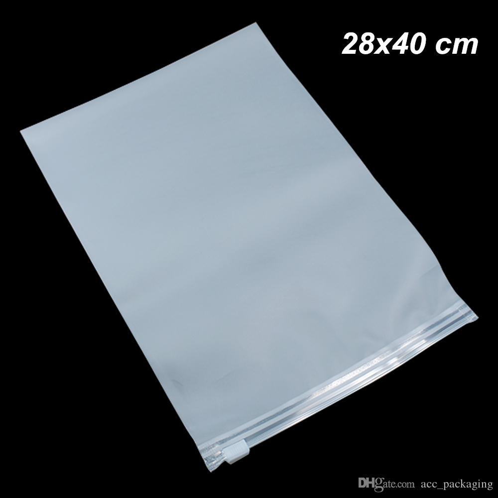 20 PCS 28x40cm Transparente Toalha autoadesivo Matte Poly armazenamento Cosmetic Bag auto-adesivo Poly plástico Bolsa para roupa de Viagem Roupa interior