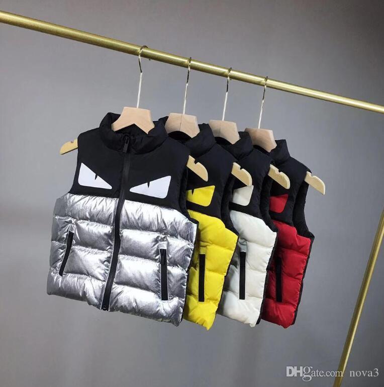 Down Cotton Warm Autumn Winter Fashion Cute Vest Tops Coat Children Girl Boy New
