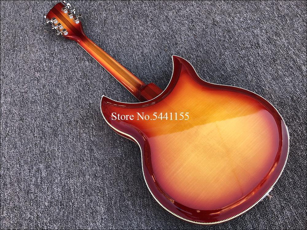 2019 Qualitäts-12 String Linke Hand elektrische Gitarre, Ricken 381 E-Gitarre mit R Heckteil, Palisander Griffbrett, freies Schiff