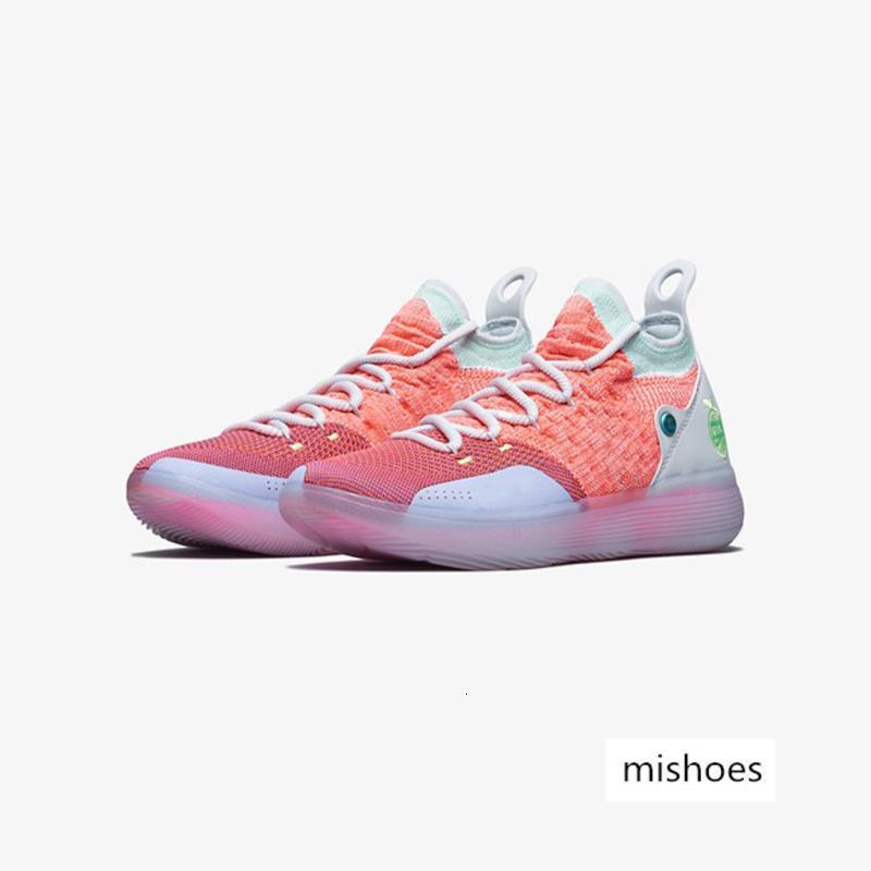 أحذية كرة السلة رخيصة الرجال KD الوردي MVP BHM عيد الميلاد عيد الفصح العمة لؤلؤة الأحمر KD11 كيفن دورانت XI أحذية رياضية الأصلي للبيع