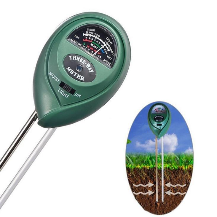 3 in 1 디지털 토양 수분 측정기 분석 PH 테스터 정원 탐지기 습도계 빛 감지기 산성 pH 수분 측정기 SN771