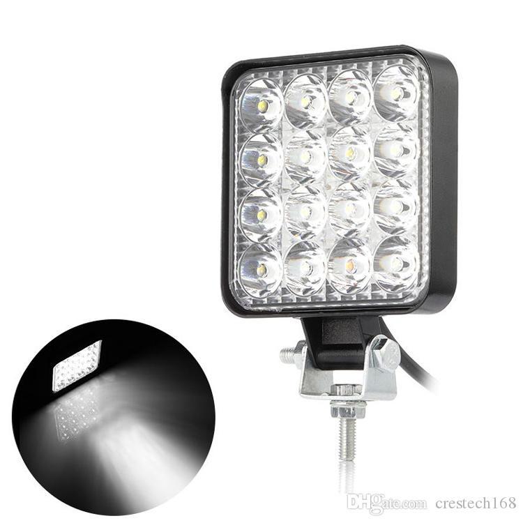 48w Square Shape 60 Degree LED Work Light Flood Lamp Driving Light, Jeep, Off-road, 4wd, 4x4, Sand Rail, Atv, Motorbike, Dirt Bike, Bus