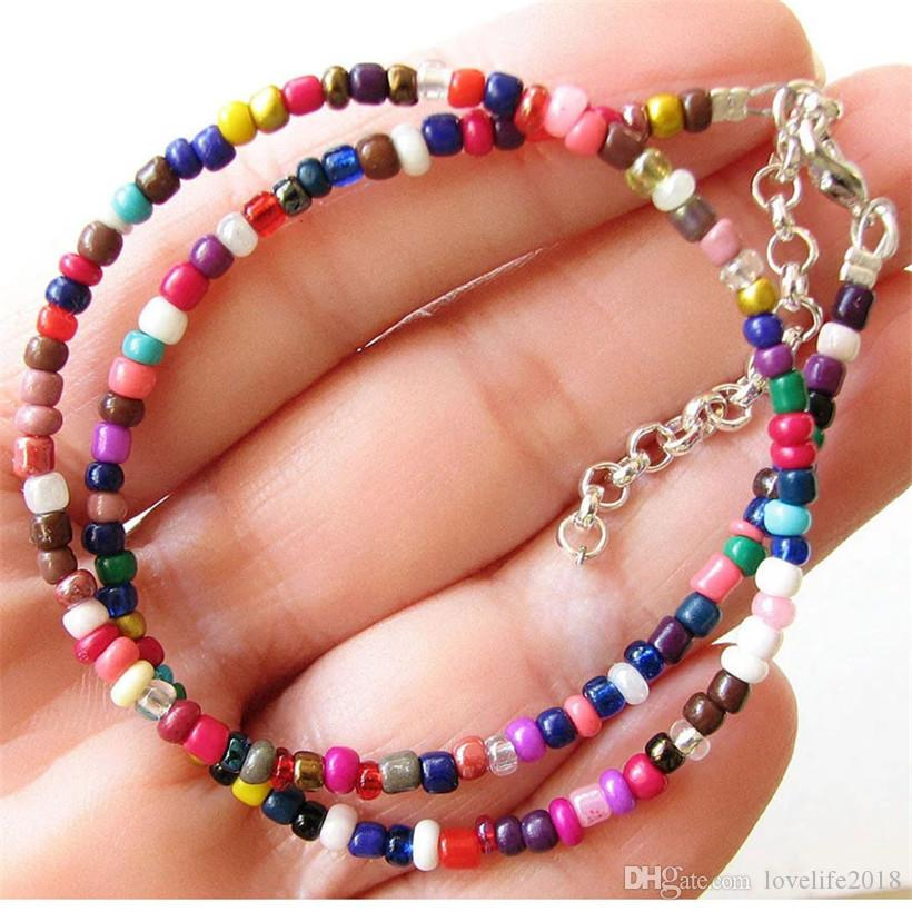 Seed Beads Layering Piece Hand Beaded Necklace Classic Beach Choker Set of 3