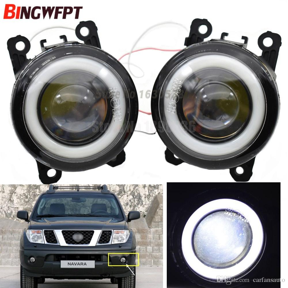 2 unids / par (Izquierda + Derecha) Luces LED de luces de niebla para el estilo de los automóviles Angel Eye para NISSAN note Navara d40 Pathfinder R51 Pixo UA0 E11