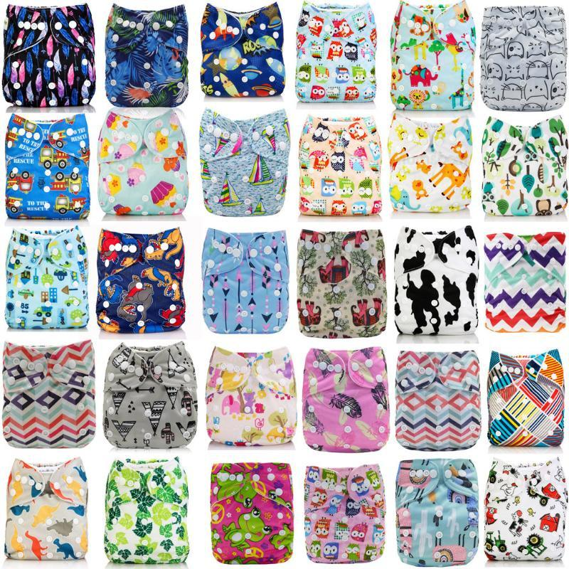 Digital Printed Cloth Diaper Reusable Waterproof Baby Cloth Diaper Adjustable Baby Nappies Fraldas De Pano Training Pants