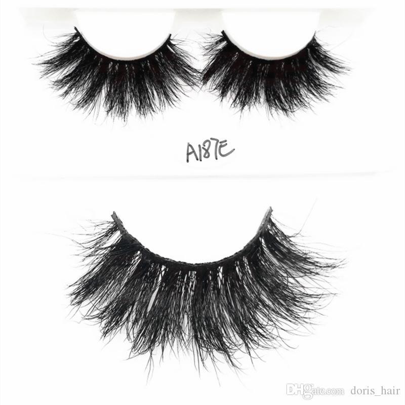 Mink hair False Eyelashes 5D 25mm LongThick Fashion Lash Blink Black Full Strip Fake Lashes Makeup Tool Free shipping