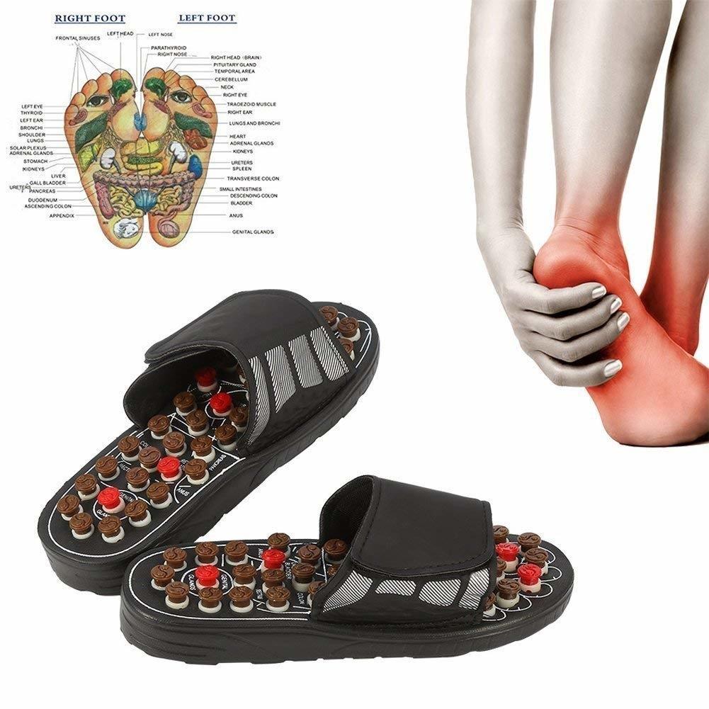 Ayak akupunktur noktası Aktive Refleksoloji Ayak Bakımı Massageador Sandal LY191203 için Ayak Masajı Terlik Akupunktur Tedavisi Masaj Ayakkabı