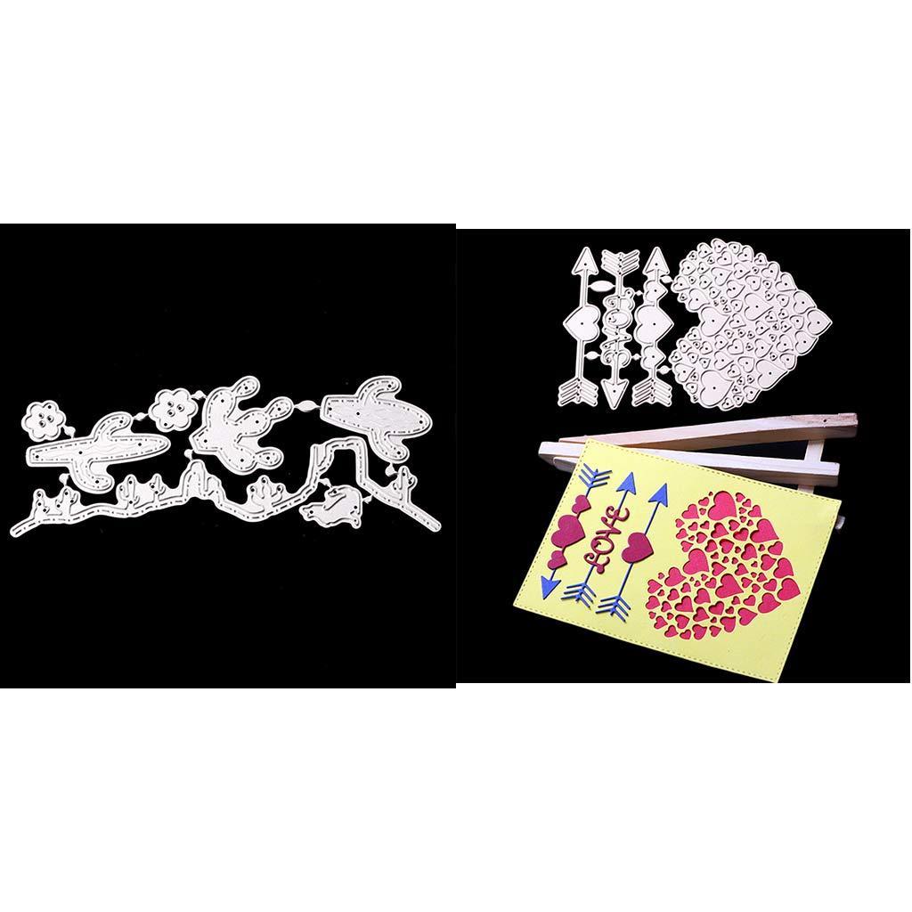 Nuovo arrivo Scrapbook cuore amore e coniglio di taglio disegno di carta fai da te Dies Scrapbooking conio metallico cartella Stencil, confezione da 2