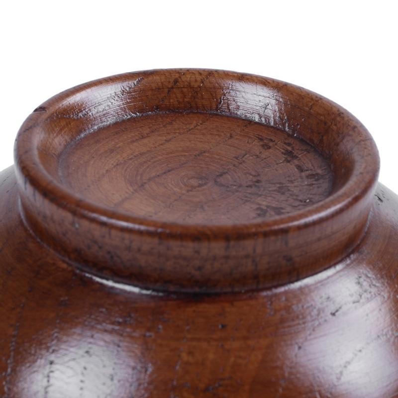 Wooden Bowls Wooden Soup Bowl Healthy Food Container Vintage Dinner Tableware Kitchen Accessories