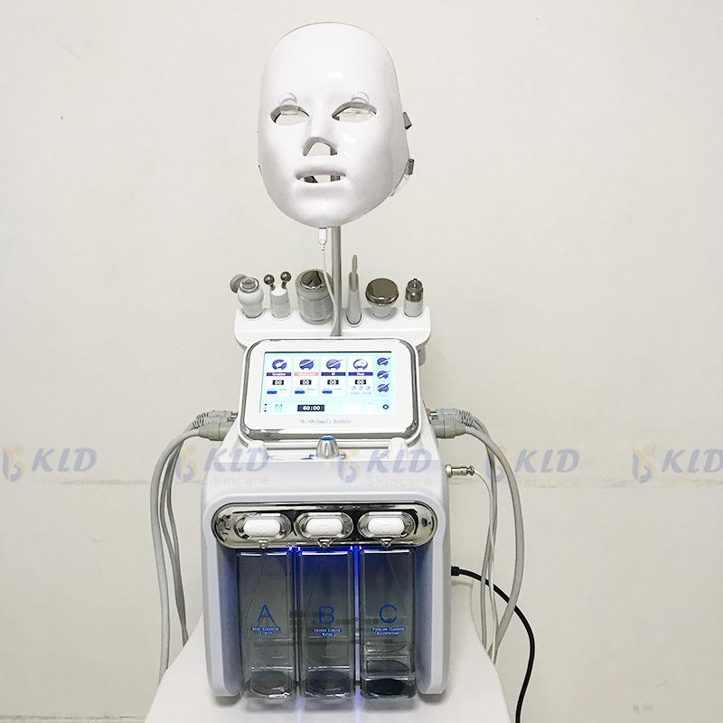 7in 1 DermaBrasion Machine Hydra Hydra для очистки на лицевой стороне Удаление морщин Алмазное микродермабразионное устройство для пилинга воды 7 Цвет PDT Light