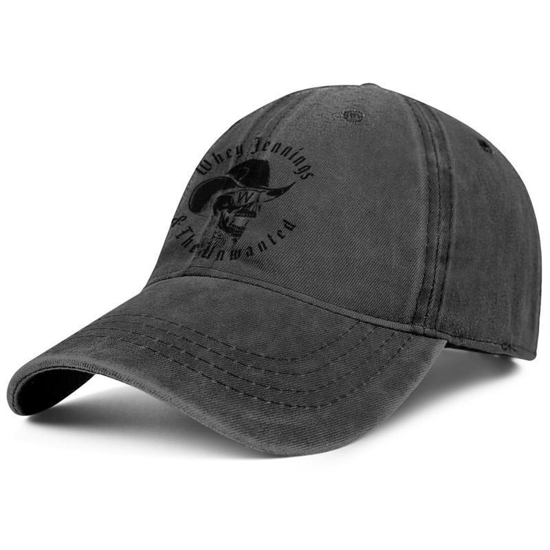 mens e mulheres caminhoneiro projeto do tampão denim equipados moda baseball BestTeam chapéus logotipo arma costume classicblank Waylon Jennings branco Crânio
