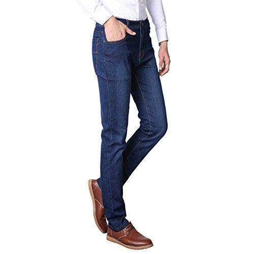 ZXWFOBEY Erkek Modası Rahat Streç Skinny Jeans