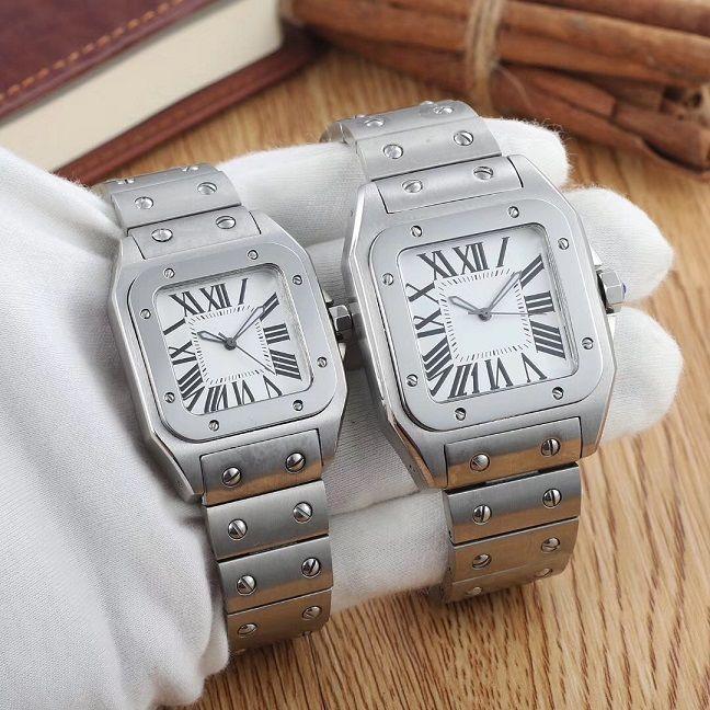 2 STYPE 시계 버클 2,018 도매 트리플 고급 남성과 여성의 시계 자동 기계 흰색 시계 스테인레스 스틸 폴딩