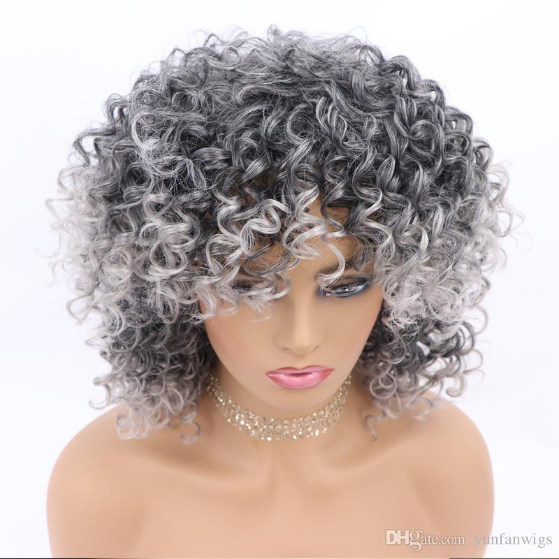 Colorful Women'S Short Hair Curly Wig Chemical