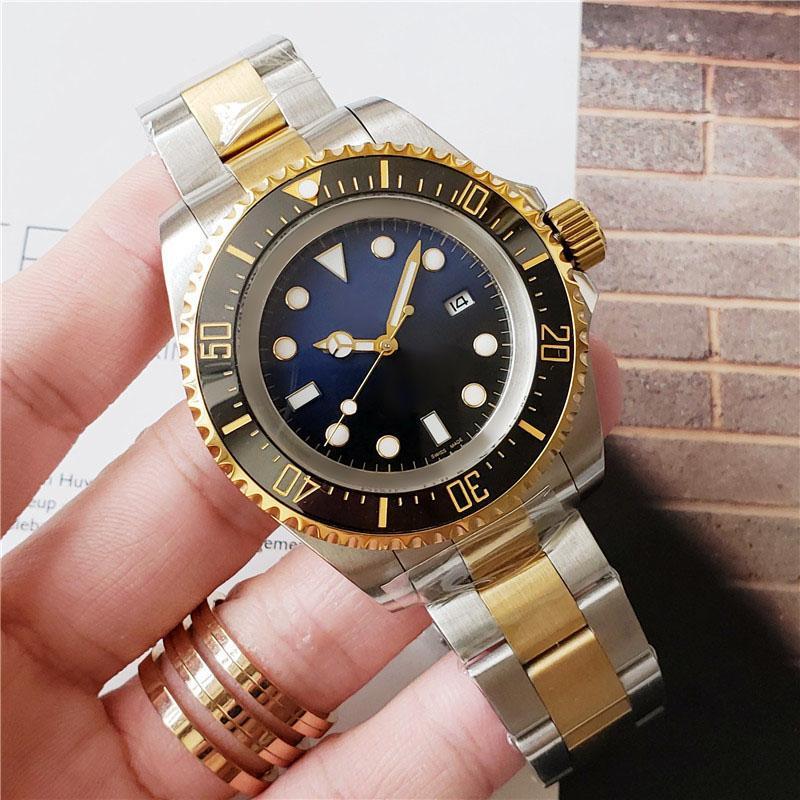 Reloj para hombre Bisel de cerámica profundo Zafiro Cyphire Acero inoxidable con cierre de bloqueo de deslizamiento Relojes mecánicos automáticos para hombre