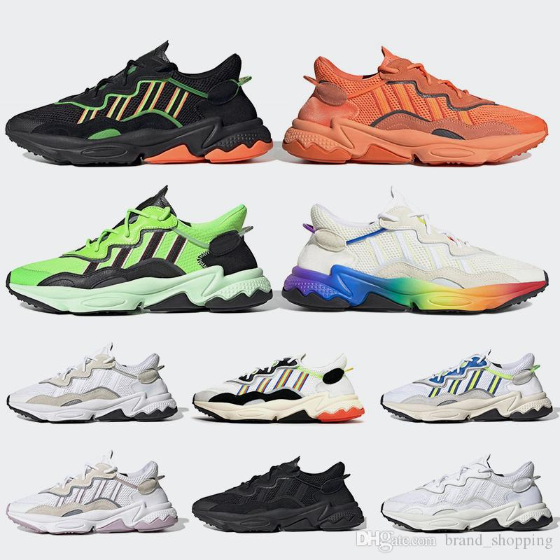 Women Mens Sneakers Pride 3M Reflective Xeno Ozweego Running shoes Neon Green Solar Yellow Halloween Tones Core Black Designer Trainers