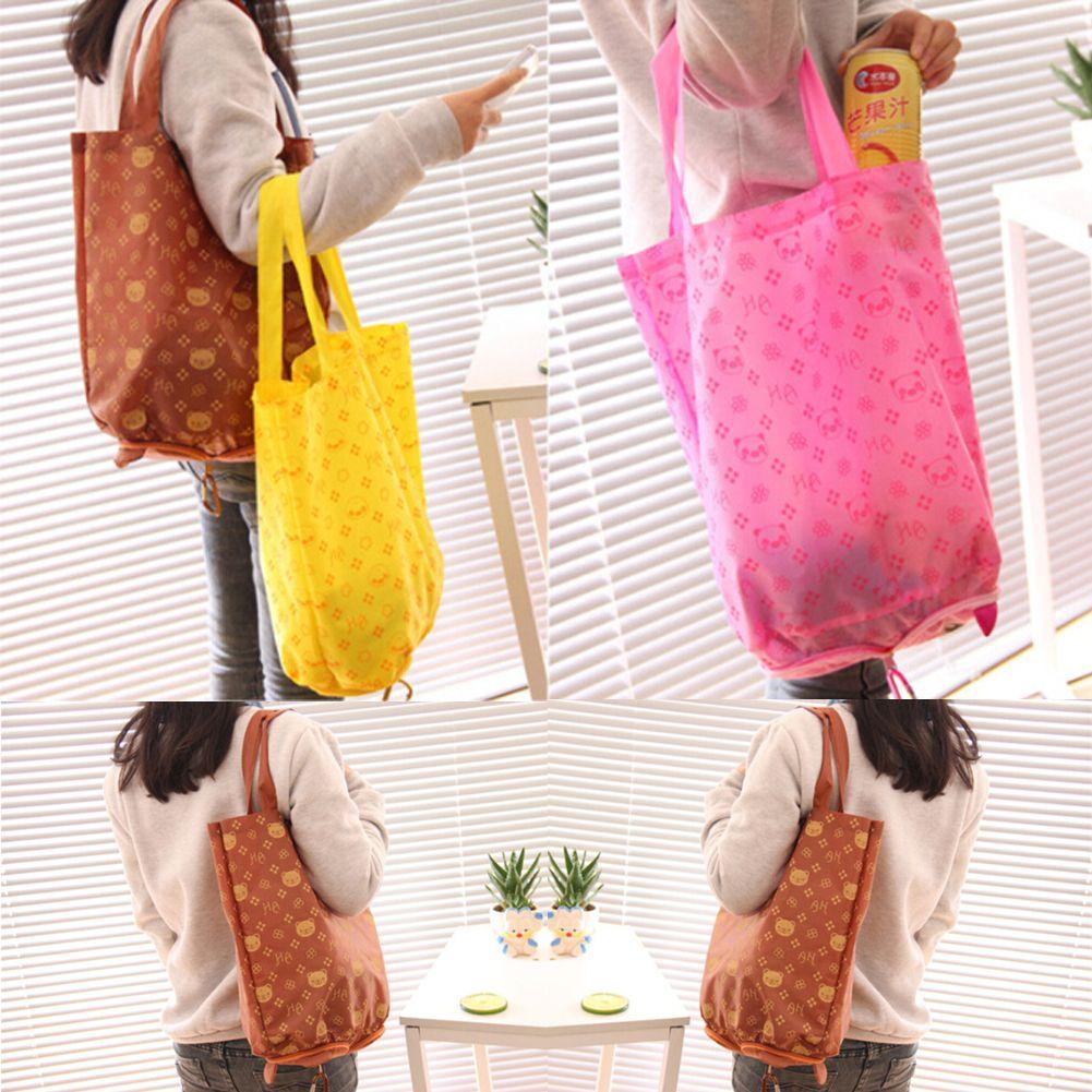 جديد مقاوم للماء سلة التخزين بقالة طوي هاندي حقيبة تسوق قابلة لإعادة الاستخدام حمل الحقيبة لطيف حقائب الهوى التخزين