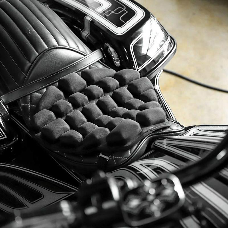 Motorrad Luftsitzkissen zur Druckentlastung Fahrt Sitzkissen TPU Wasser Fillable Sitzpolster für Touring und Cruiser Sättel (RETAIL)