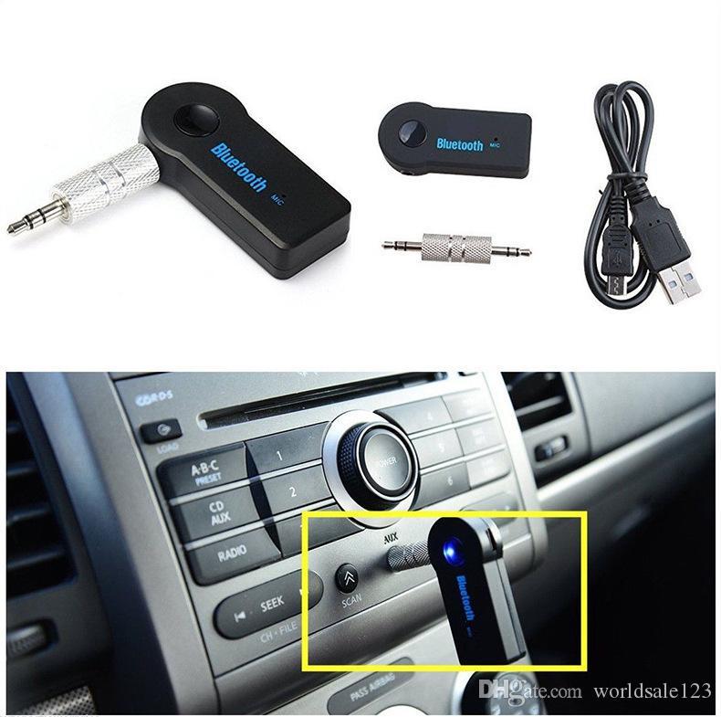 Neue Real Stereo 3,5 Blutooth Wireless für Automusik Audio Bluetooth Receiver Adapter AUX 3.5mm A2DP für Kopfhörer Reciever Jack HandsFree