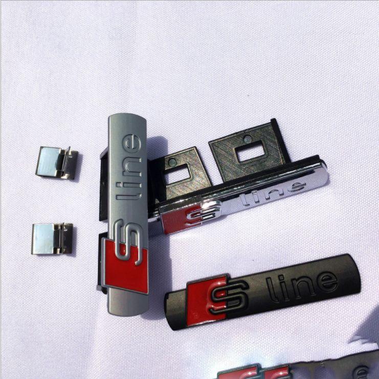 3D S line SLine Grille Sport Emblem Abzeichen Körper Abziehbilder für A3 A4 B6 B8 B5 B7 Seite Fender Marker Car Externen Zubehör