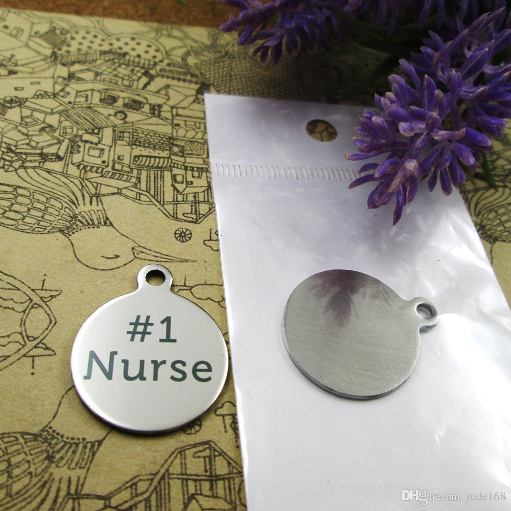 "40pcs--""Number 1 Nurse""stainless steel charms more style for choosing DIY Charms pendants for necklace"