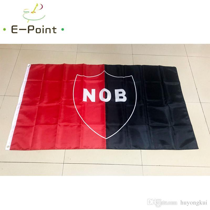 Argentine Club Atletico Newell's Old Boys 3 * 5ft (90cm * 150cm) Polyester drapeau Bannière décoration volant maison drapeau de jardin cadeaux de fête