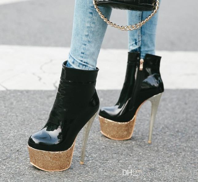 patik tasarımcı bot lüks tasarımcı kadın botları tasarımcı patik parıltı platformu beyaz kırmızı siyah 42 ila 48 süper yüksek topuklu boyut 33