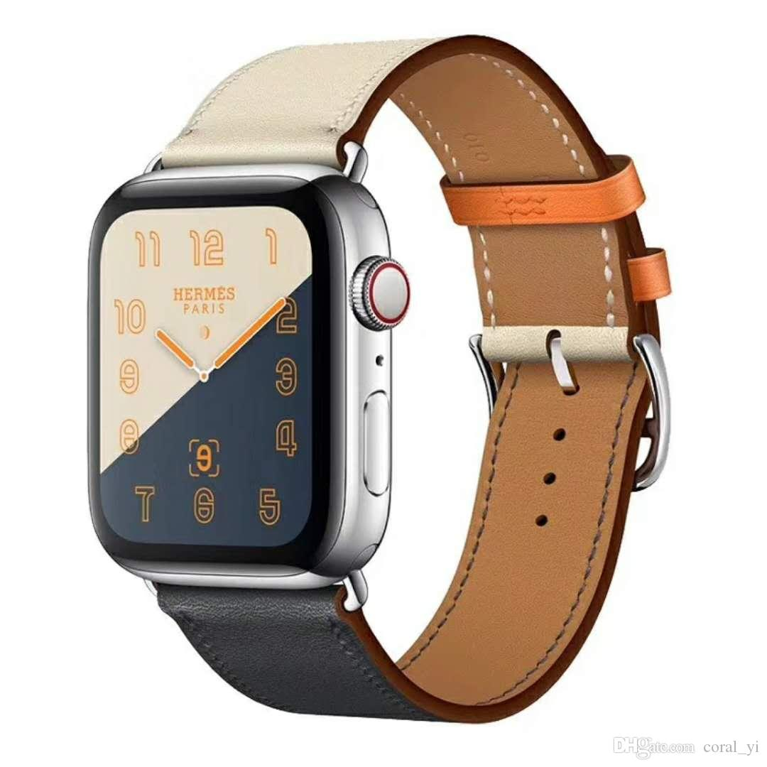 Кожаная петля для Apple Watch Band 42mm Series 1 2 3 4 для iwatch 44mm ремешок 38mm браслет Замена 40mm