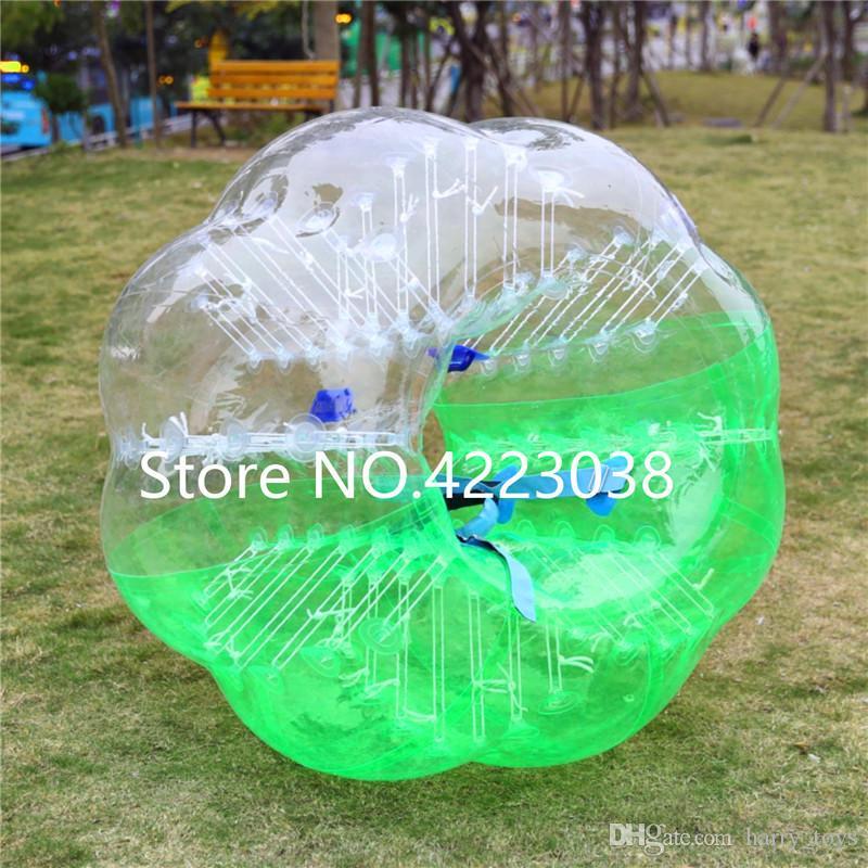 Ücretsiz Kargo Hava Kabarcık Futbol 0.8mm PVC 1.5m Şişme Zorb Ball, Kabarcık Futbol Topu, Balon Takım elbise, Loopy Ball, Tampon Topu