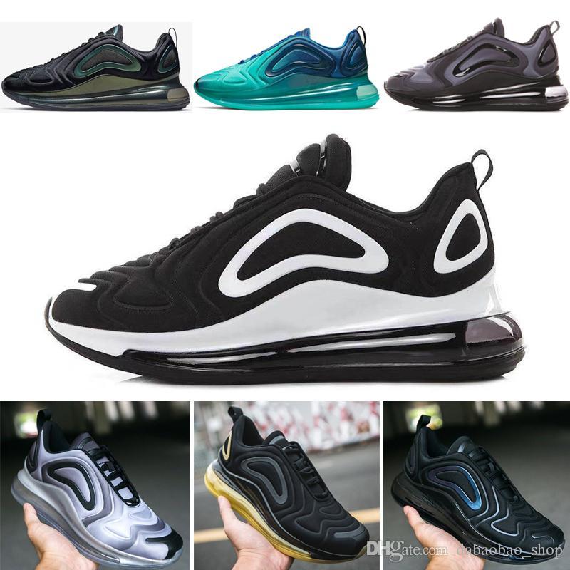 Lluvioso Efectivamente invención  Compre Nike Air Max 720 Mejor Calidad Despiden Vapores Stephanie 3M Camaleón  Triple Negro Blanco Diseño Zapatillas De Deporte De Hombres Y Mujeres De  Los Zapatos Corrientes De Aire A 78,86 €
