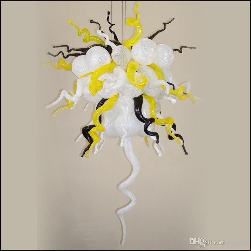 ملون كيلي دايل نمط اليد في مهب زجاج الثريات الحديثة تصميم المطبخ متعدد الملونة كريستال بقيادة ضوء الثريا