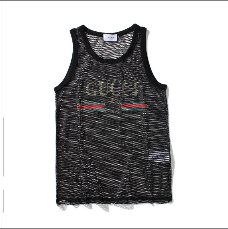 Mens Designer Tank Top with Letters Sport Bodybuilding Brand Gym Clothes Luxury Vests Clothing Perspective Men's Underwear Tops M-XXL