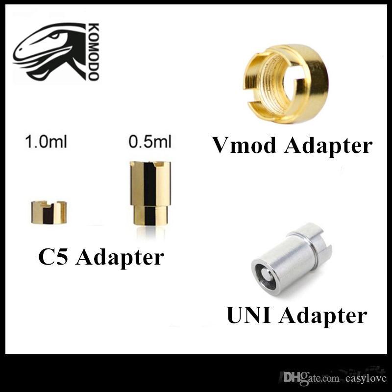 Оригинал Komodo Vmod II Адаптеры Yocan UNI Адаптер C5 Mod Батарея Магнитное Разъем Кольцо Для 510 Резьбовых Картриджей Бесплатная Доставка