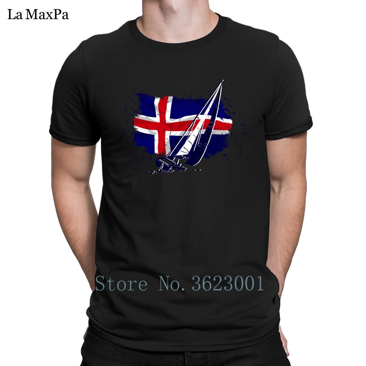 Impression T-shirt officiel du printemps Traversées Islande Drapeau look vintage hommes T-shirt Grand Impressionnant T-shirt des hommes T-shirt Euro Taille cadeau