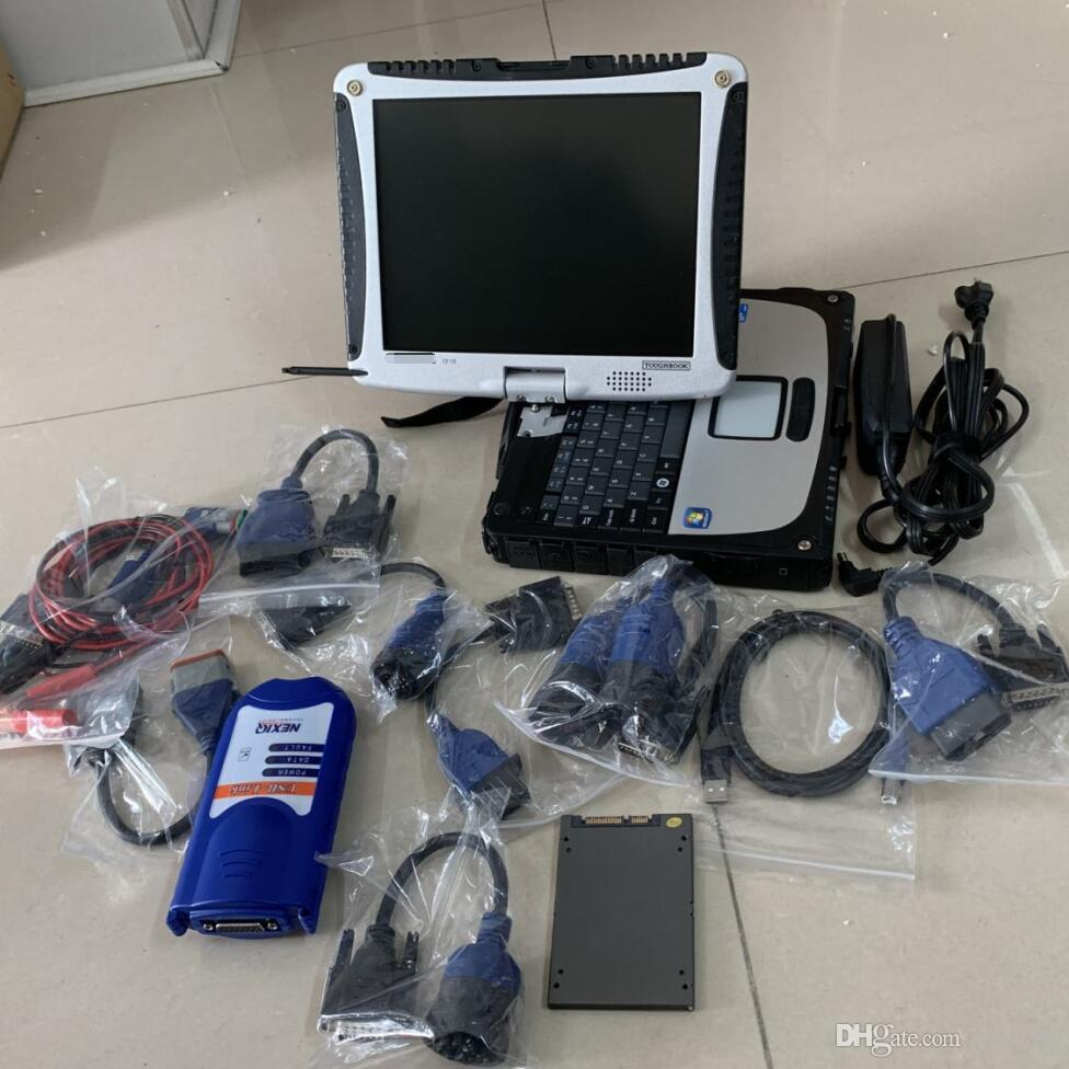 Strumento diagnostico del camion USB NexiQ USB 125032 Scanner per impieghi pesanti SSD con laptop CF19 Touch Computer