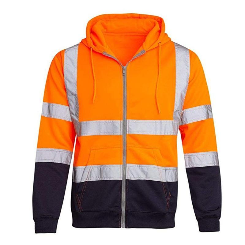 Men's Jackets JAYCOSIN Hoodies Sweatshirts Work High Visibility Pullover Long Sleeve Tops Blouse Clothes Male Fashion Sportswear